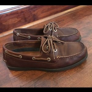 Chaps Shoes - Mens Chaps Leather Boat Deck Shoes size 8